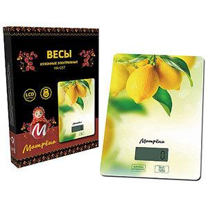 МАТРЁНА МА-037 Весы кухонные электронные С рисунком Лимон до 7 кг