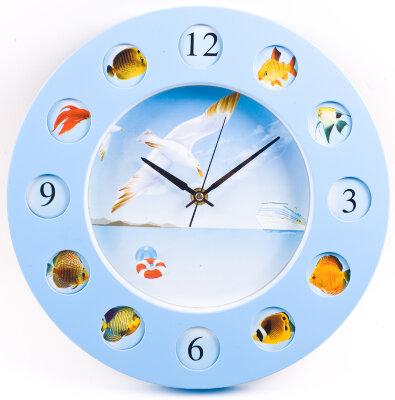 """Часы круглые настенные 27 см MAXTRONIC MAX-8735A1 """"Круиз"""" кварцевые"""
