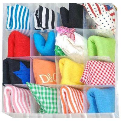 Складная коробка для белья, чулок, носков PSB-03/16, 16 ячеек, пластик,30*30*10см