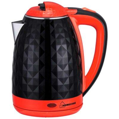 Чайник с двойными стенками 1.8 л Homestar HS-1015 красный с черным