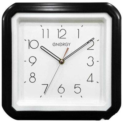 Часы квадратные настенные 28х28 см ENERGY ЕС-124 с плавным ходом