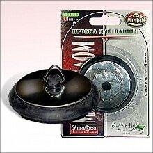 Заглушка для ванны H34-13 без цепочки, нержавеющая сталь, пластик