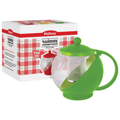 Чайник заварочный 750 мл Mallony PTP-01-750ML с ситечком