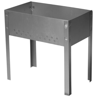 Мангал складной для пикника 400х240 мм без шампуров, сталь 0.7 мм