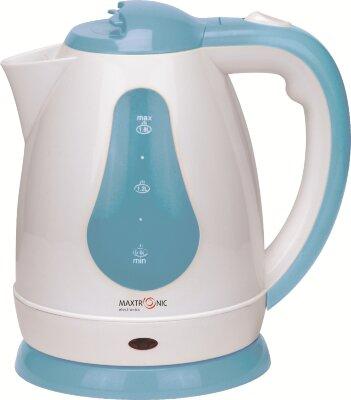 Чайник электрический пластиковый корпус 1.8 л MAXTRONIC MAX-805 голубой, 1800 Вт, дисковый