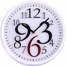Часы круглые настенные с цифрами разного размера 26.2 см MAX-9636А Скорость кварцевые интерьерные