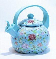 Чайник 2.5 л KL-4455 KELLI со свистком эмалированный на плиту