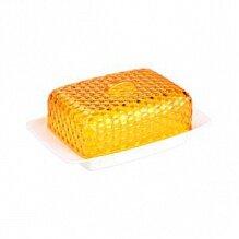 Масленка кухонная Мозаика М5570 Альтернатива цвет бело-оранжевый 18.5x12x7.2 см