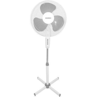 Вентилятор бытовой напольный 40 см ENERGY EN-1659G 40 Вт высота 1.25 м, Белый, 2 шт в коробке