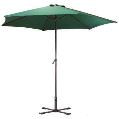 Зонт дачный с крестообразным основанием GU-03-GR 240 см зеленый
