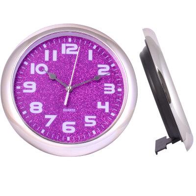 """Часы круглые настенные и настольные 21 см MAXTRONIC  MAX-9557L2 """"Лаванда"""" сиреневый циферблат, серебристый ободок"""
