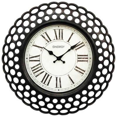Настенные часы без секундной стрелки 40 см ENERGY ЕС-126 большого диаметра