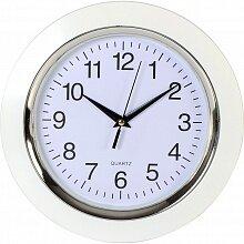 Часы круглые настенные 24.5 см MAX-9827A0 Сливки кварцевые интерьерные белые