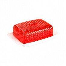 Масленка кухонная Мозаика М5569 Альтернатива цвет бело-красный 18.5x12x7.2 см