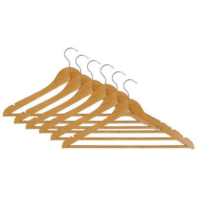 Рыжий КОТ W2-P-NS/6 Набор вешалок плечиков деревянных 6 шт для верхней одежды