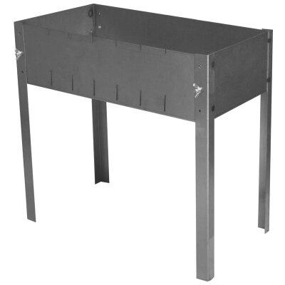 Мангал складной на барашках высокий без шампуров 500х300 мм, сталь 1.5 мм