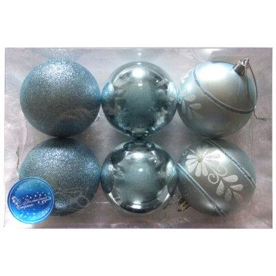 Набор матовых и глянцевых шаров для елки 8 см SYCB17-320 6 шт