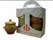 Подарочный набор из 4-х керамических горшков для запекания