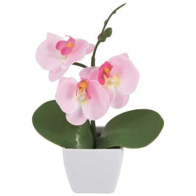 Искусственная Орхидея в горшке AF-01 для декора 25x13x7.5 см