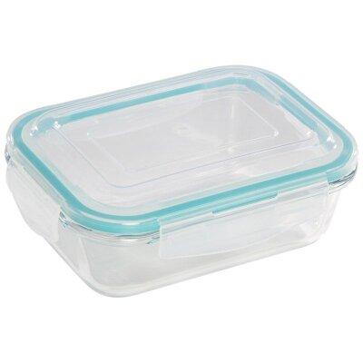 Контейнер для пищевых продуктов 650 мл Diafano Mallony прямоугольный стеклянный с пластиковой крышкой