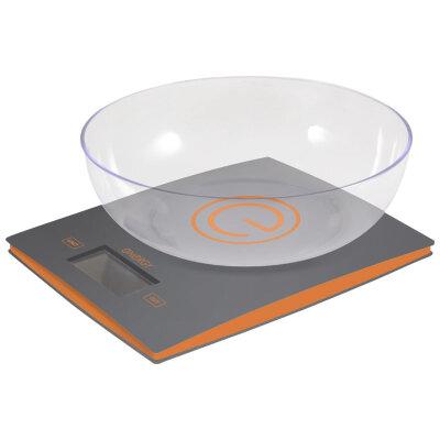 Весы настольны электронные с чашей до 5 кг ENERGY EN-424 точность 1 грамм, серые