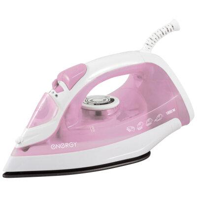 Утюг с тефлоновым покрытием 1800 Вт ENERGY EN-301P функции самоочистки и парового удара, Розовый