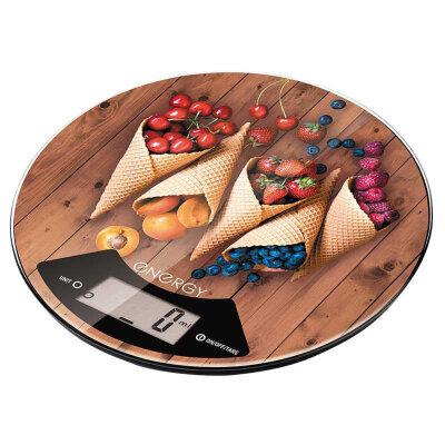 "Весы кухонные круглые электронные 5 кг ENERGY EN-403 ""ВАФЛИ"""