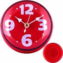 Часы круглые настенные 8.5 см MAX-9787-2 Фантазия-2 кварцевые кухонные красные