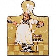 """Подставка под горячее """"Повар"""" арт. 229-167 Арти-М 19x16 см керамика Китай"""