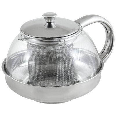 Чайник заварочный стеклянный 600 мл Mallony Menta-600 с ситечком
