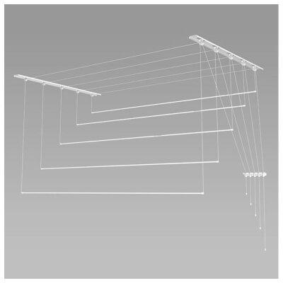 Лиана сушилка потолочная на балкон 1.3м 5 стержней для сушки белья