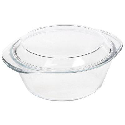 Кастрюля из жаропрочного стекла с крышкой 1.5 л CRISTALLINO Mallony
