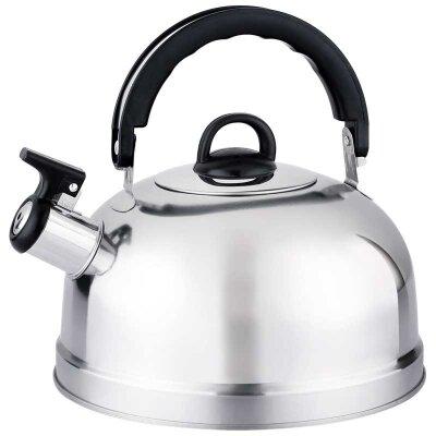 Чайник на плиту 2.7 л со свистком Casual нержавеющая сталь, зеркальная полировка