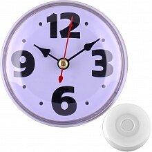 Часы круглые настенные 8.5 см MAX-9787-3 Фантазия-3 белые кварцевые кухонные