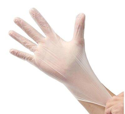 Перчатки хозяйственные виниловые Лайт-класс 5 пар в упаковке универсальный размер Рыжий КОТ