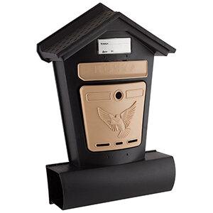 """Индивидуальный почтовый ящик уличный """"Элит"""" пластиковый с замком + 2 ключа"""