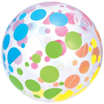 Мяч детский пляжный надувной в горох 51 см 31013B Bestway