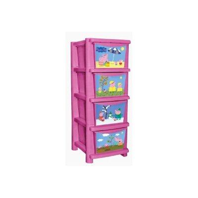 Детский комод для игрушек с 4 ящиками Свинка Пеппа 0704РР 335 мм