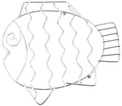 """Подставка под горячее Regent 93-TR-04-03 """"Рыба"""" нержавеющая сталь, 22x1 см"""