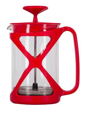 Френч пресс 0.8 л Regent 93-FR-32-01-800 цвет Красный жаропрочное стекло и пластик