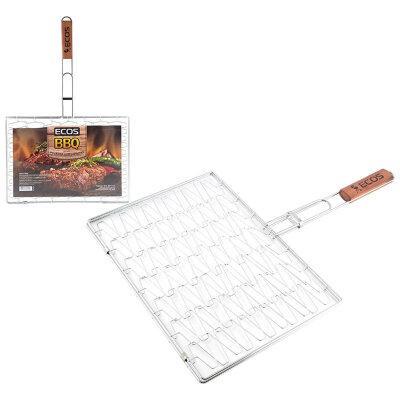 Решетка для барбекю универсальная ECOS RD-122D эластичная, 40х28х1 см, общая длина 61 см