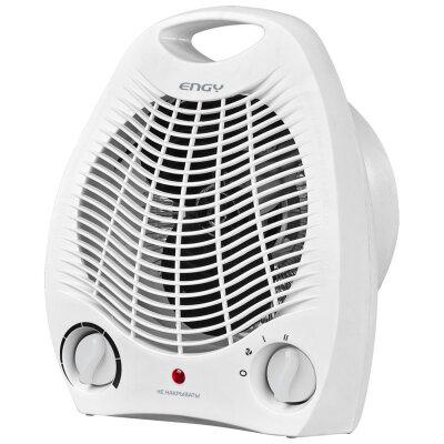 Тепловой вентилятор электрический бытовой 2 кВт ENGY EN-509W, белый