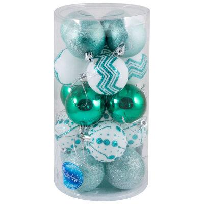 Набор из елочных новогодних шаров для елки 6 см  SYCB17-295 20 шт