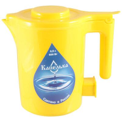 Мини чайник электрический 0.5 л Капелька желтый 500 Вт