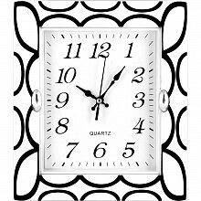 Часы прямоугольные настенные 20x23 см MAX-8707B Элегантность пластиковые кварцевые