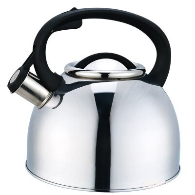 Чайник на плиту со свистком 2.5 л Arte Mallony из нержавеющей стали зеркальная полировка