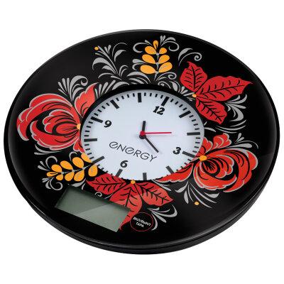 Весы с часами круглые настольные до 7 кг ENERGY EN-427 для кухни