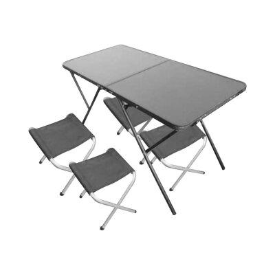 Походный стол со стульями 120x60x68.5 см PARK до 30 кг