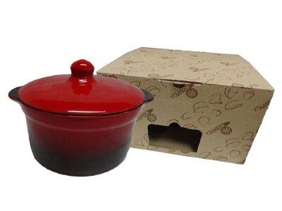 Кастрюля из жаропрочной керамики 2 л Красная арт.№1 КРС00000403