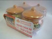 Набор керамический из 4 горшков для жаркого